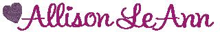 Allison LeAnn Signature